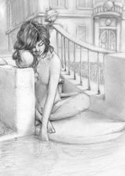 Sunday nude by asumoth