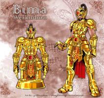 The Golden Armor of Bima by elangkarosingo