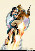 Rocketeer Poster by PaulRomanMartinez