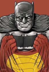 Dark Knight Returns 3 III Superman V Batman by PaulRomanMartinez