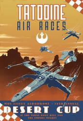 Star Wars Vintage Air Race Poster by PaulRomanMartinez