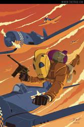Rocketeer at war by PaulRomanMartinez