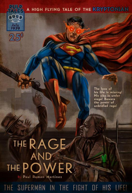Pulp Novel Art Superman by PaulRomanMartinez