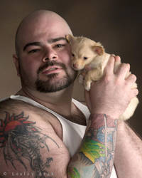JohnnyP with puppy 3 by khavi