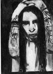 Manson in black and, paper by Disgraceful-Love