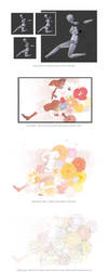 Painting Process for 'Sign of Spring' by namito111