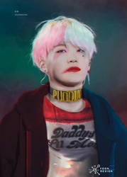 Yoongi Harley Quinn by BrovoStyles