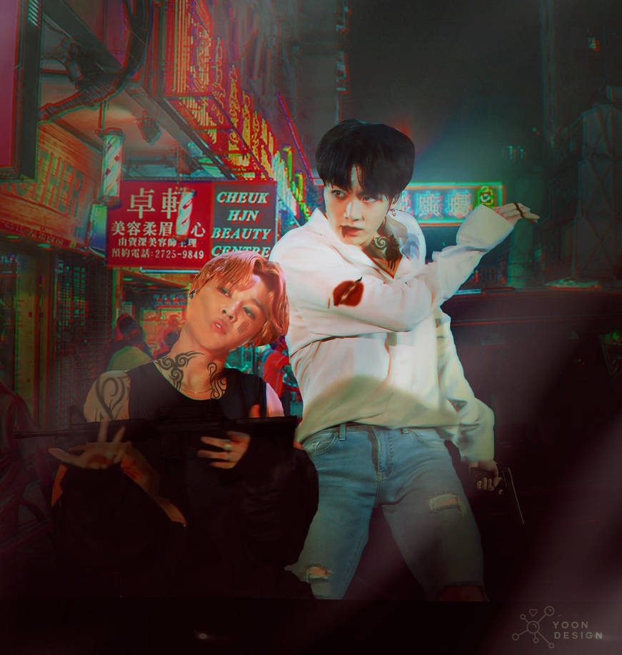 Jikook as a Gangsters of Busan by BrovoStyles