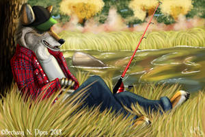 Old Man Coyote by TruSpiritArt