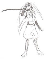 Female Leaf Ninja by CalamitySeraph