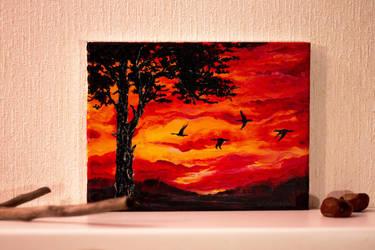 sunset. birds by Irena-Unn