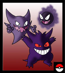 Gastly Family by ZappaZee