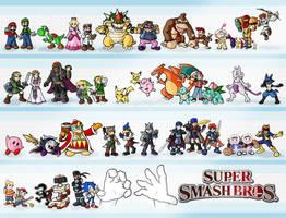 Super Smash Bros. by ZappaZee