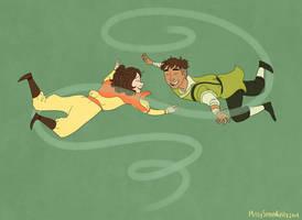 Jinora and Kai by MissySerendipity