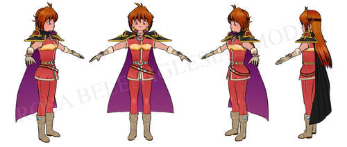 Lina inverse 3d cellshading by RosaKiddy