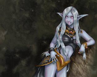 Dark Elf Warrior by RosaKiddy