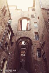 arches of siena (Siena) by mystic-darkness