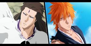 Aizen vs Ichigo Collab by themnaxs
