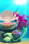 happy birthday mermaid. + Sirenabonita + by hazelwolfmallark