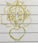 Gold pen doodle by hazelwolfmallark