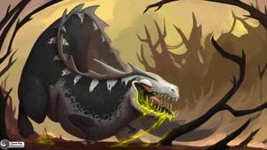 Acidaptor - Hearthstone fan art! by Save-The-Dinosaurs