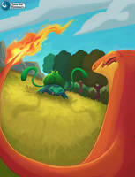 Pokemon battle by Save-The-Dinosaurs