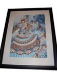 Lady Blue Framed by Lilianthus
