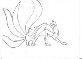 Naruto 4 tails by devilswillbeburned12