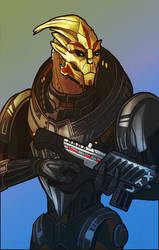 Turian Soldier with Tempest by Nissun