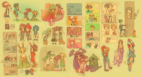 Pokemon sketch dump 3 by ichigo-tan