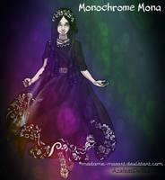 :: Monochrome Mona :: (my new OC) by Madame-Mozart
