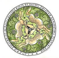 Three Hares by cidaq