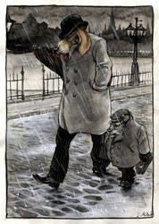 Walking in the rain... by cidaq