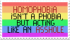 F2U homophobia isn't a phobia stamp by RainyCrystal42