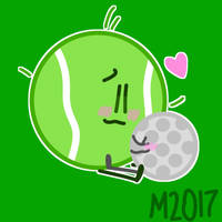 Tennisball x golfball by miles2016