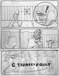 Herald Comic Page 1 WIP by trumpetplaya