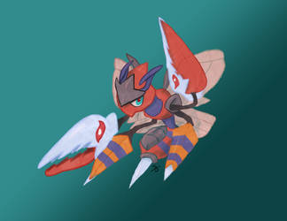 Pokemon Fusions: Mega Beezor by DDeify