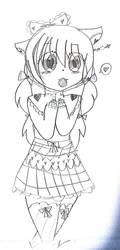 Kitty Adoptable ~ Sketch by Narangie