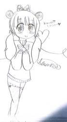 Kawaii Desu Bear Girl ~ Sketch by Narangie