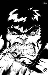 Hulk Commission Inks by antalas
