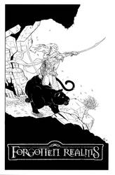 Drizzt inks by antalas