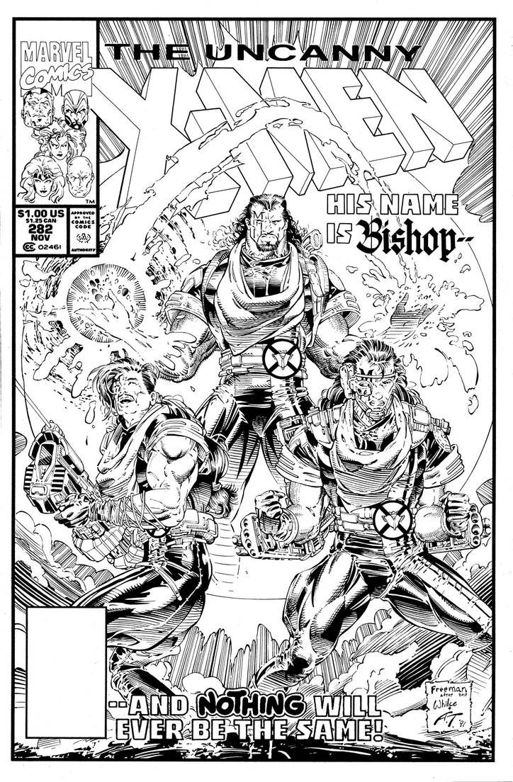 Uncanny X-men 282 cover recreation inks by antalas