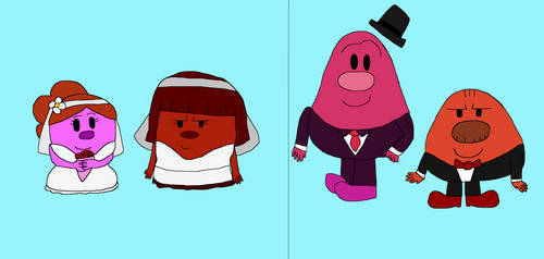 Wedding Scatterart and Rude couples by IzaStarArtist17