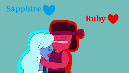 V-Day Pic 11b - Ruby and Sapphire by IzaStarArtist17