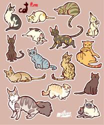 CATS sticker by mofuwa