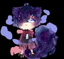 GALAXY CAT [ adoptable-OPEN] by Yokina-Miko