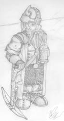 Sabin, Drunken Dwarf Ranger by Gantheez