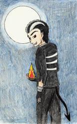 Devil in a Pokeball by Mikaua