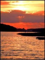 summer lake ..---...-. by burcyna
