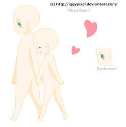 Base: Chibi Couple by IggyPixel